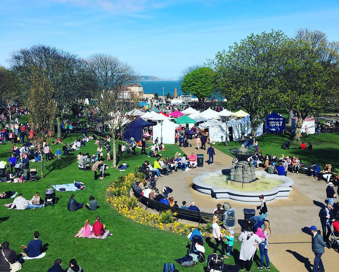 The Peoples Park Market in Dun Laoghaire