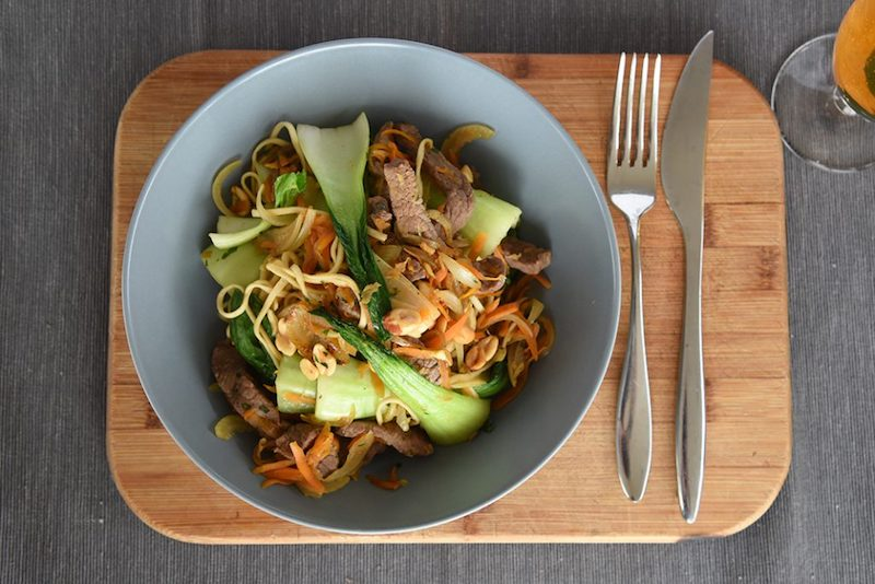 Stir-fry Beef with Asian Greens