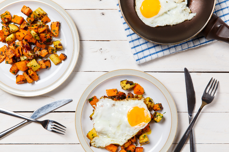 Parsnip and Sweet Potato with Egg