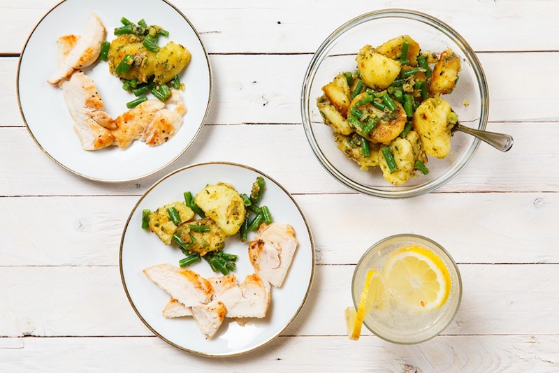 Succulent Lemon Chicken with Pesto Potato Salad