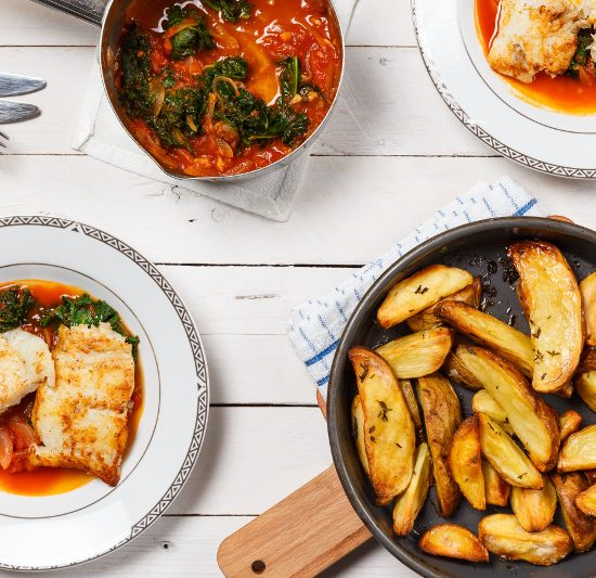Hake Provencal with Wedges