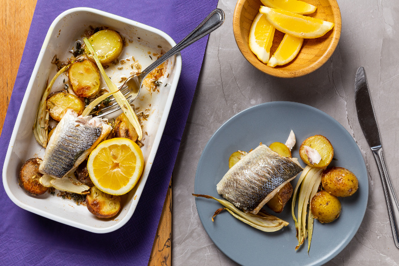 Sea Bass with Fennel _ Lemon