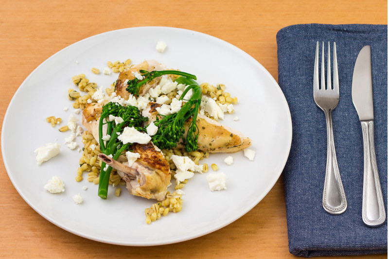Chicken with Broccoli and Feta